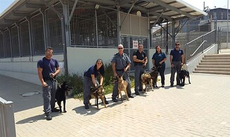 20 new police dogs land in Israel