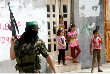 Gaza school or Hamas haven? (illustration)