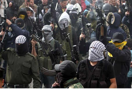 Terrorists in PLO's Fatah (file)
