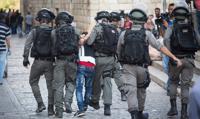 Security forces in Jerusalem