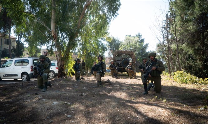 Troops during the exercise