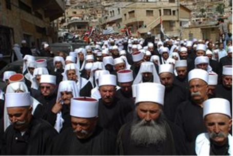 Druze leaders in Israel (file)
