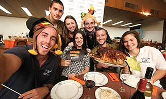 Watch: Immigrants Celebrate Thanksgiving in Israel