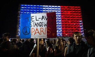 Watch: Rally in Tel Aviv in solidarity with France