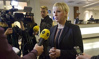 Swedish FM linking Israel, ISIS attack 'racist'