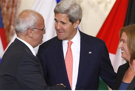 Livni, Erekat with Kerry, July 2013