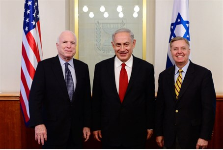 McCain and Graham in Israel (archive)