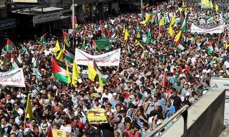 Pro-Palestinian rally in Jordan (archive)