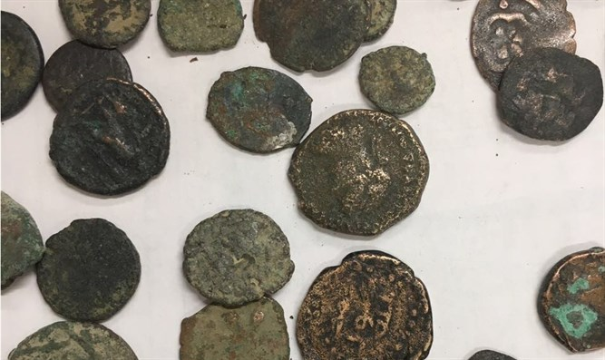 Some of the smuggled coins