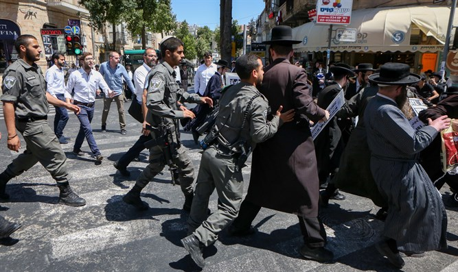 The demonstrations in the Mea Shearim neighborhood