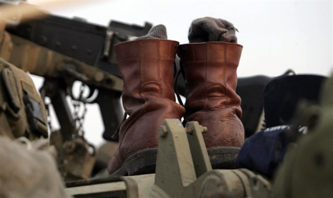 Military boots (illustrative)