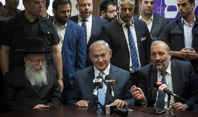 Netanyahu with heads of haredi factions