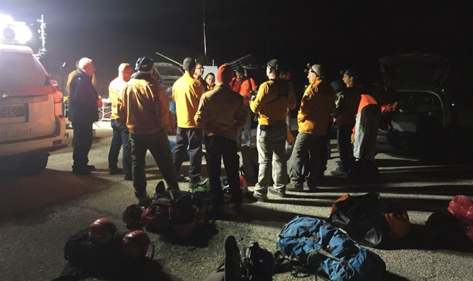 Search efforts in Nahal Darga