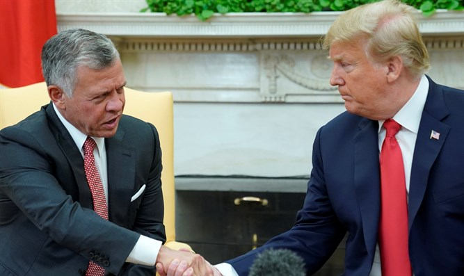 King Abdullah II and Donald Trump