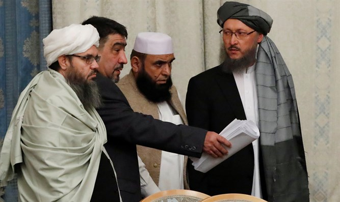 Taliban delegation at multilateral peace talks on Afghanistan in Moscow