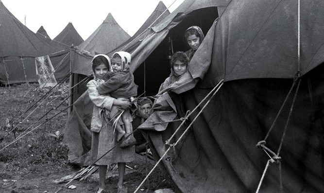 Tent camp in Beit Lid, Israel for WWII refugees