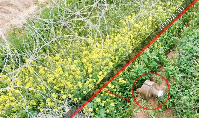 Explosive device placed on Gaza border